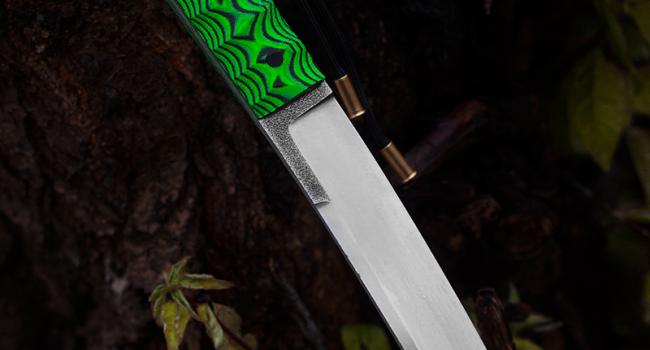 Танто «Toryu» green frog